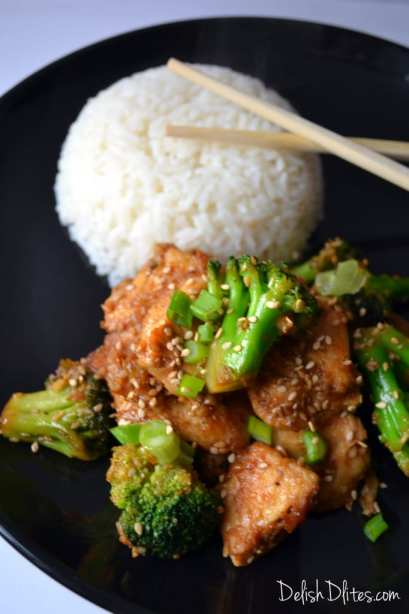 Guilt Free Sesame Chicken | Delish D'Lites