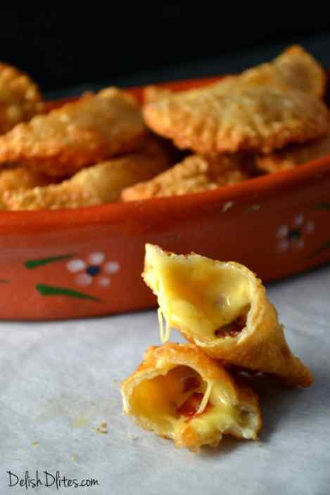 Bacon and Cheese Empanadas | Delish D'Lites