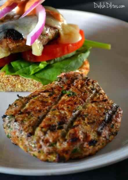 Spicy Turkey Zucchini Burgers   Delish D'Lites