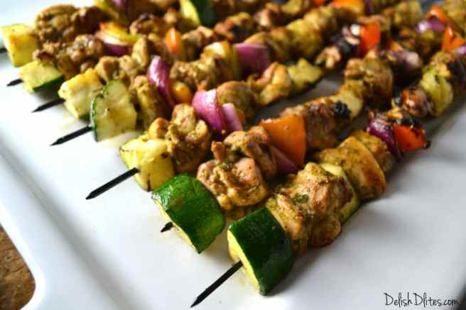 Cilantro Lime Chicken Kabobs | Delish D'Lites