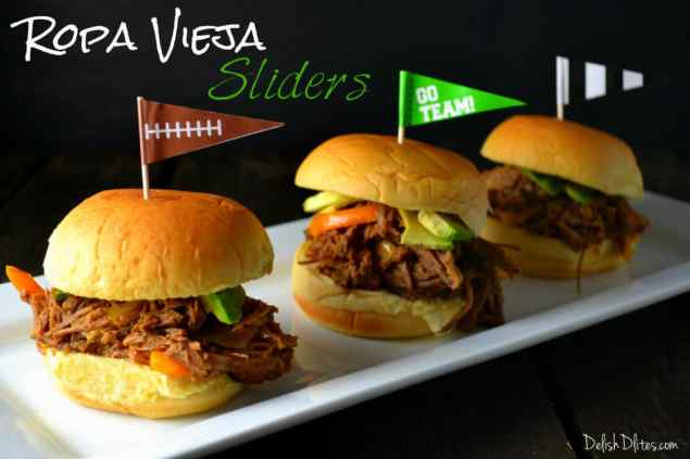 Ropa Vieja (Shredded Beef) Sliders | Delish D'Lites