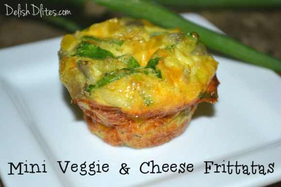 Mini Veggie & Cheese Frittatas