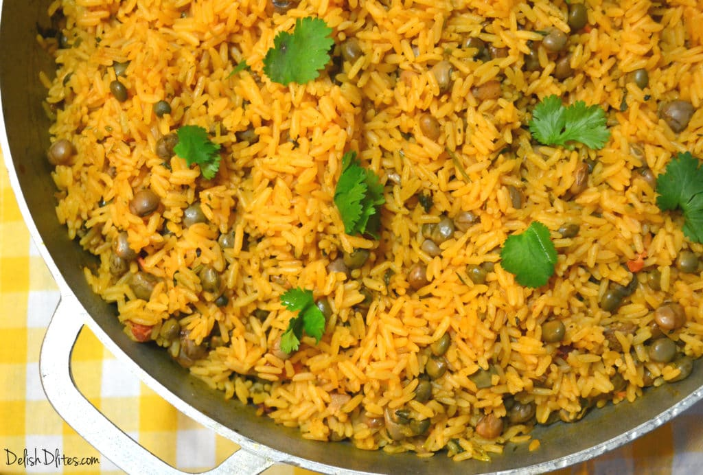 Arroz Con Gandules (Puerto Rican Rice with Pigeon Peas) | Delish D ...