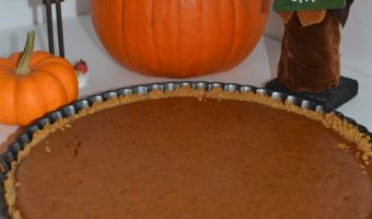 Pumpkin Tart with a Graham Cracker Crust
