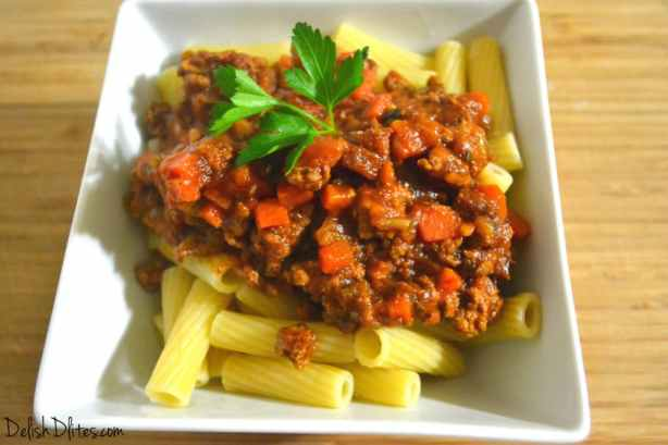 Slow Cooker Turkey Bolognese | Delish D'Lites