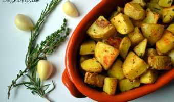 Roasted Garlic, Rosemary & Thyme Potatoes
