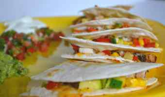 Chicken and Veggie Quesadillas