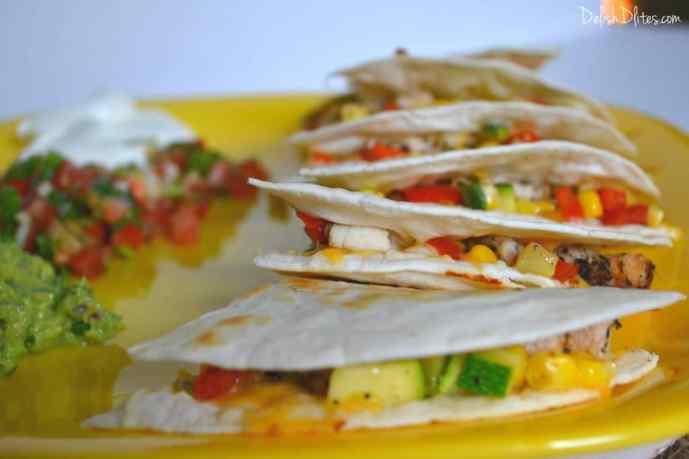 Chicken and Veggie Quesadillas | Delish D'Lites
