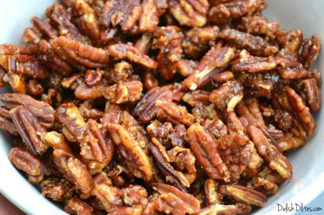 Cinnamon Sugar Candied Pecans | Delish D'Lites