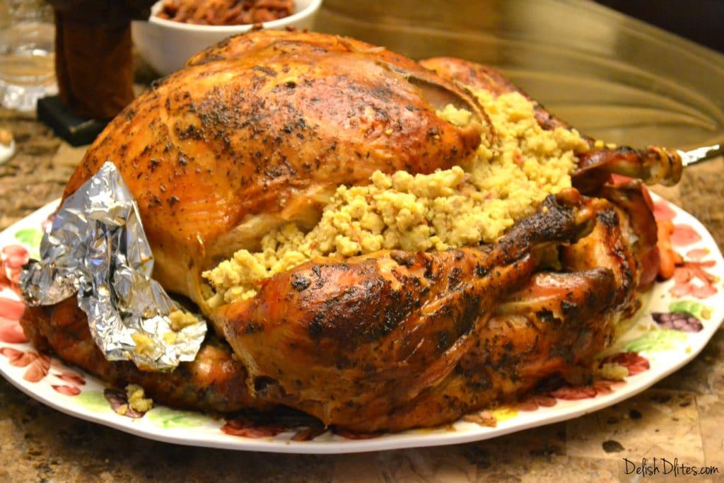 Pavo Relleno de Mofongo (Mofongo Stuffed Turkey)