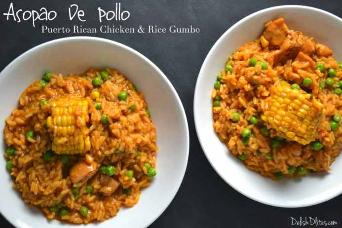 Asopao De Pollo (Puerto Rican Chicken & Rice Gumbo) | Delish D'Lites