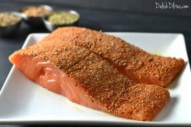 Spice Crusted Salmon   Delish D'Lites
