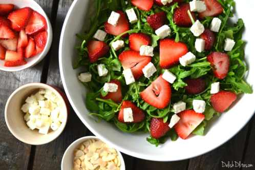 Strawberry, Arugula and Feta Salad |Delish D'Lites