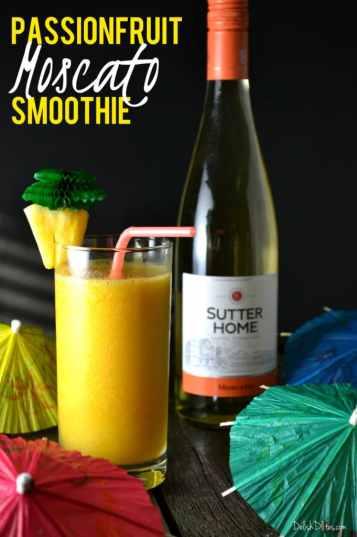 Passionfruit Moscato Smoothie | Delish D'Lites
