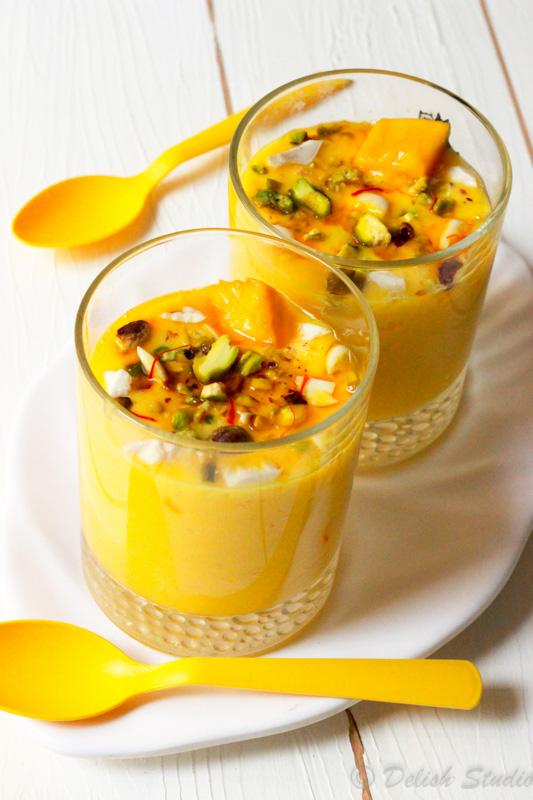 Kesar Pista Mango Lassi (Refined sugar free)