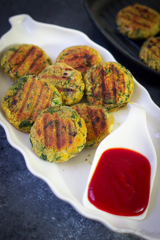 Spinach Quinoa patties ( Vegan and glutenfree)