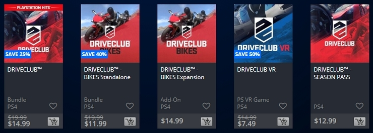 Driveclub franchise on sale ahead of Delisting deadlines