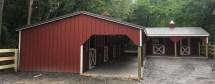 L-shape Hoese Barn - Modular Horse Barns Sheds Garages