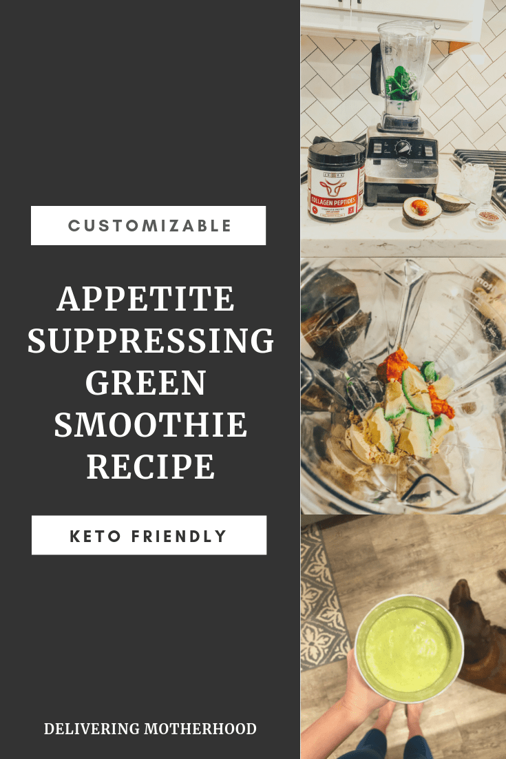 Green smoothie recipe, keto friendly, keto approved, customizable, appetite suppressing