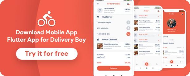 Food Delivery Flutter + PHP Laravel Admin Panel - 19