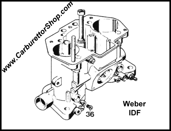 (36) Vacuum Take-Off Plug for Weber IDF carburetors