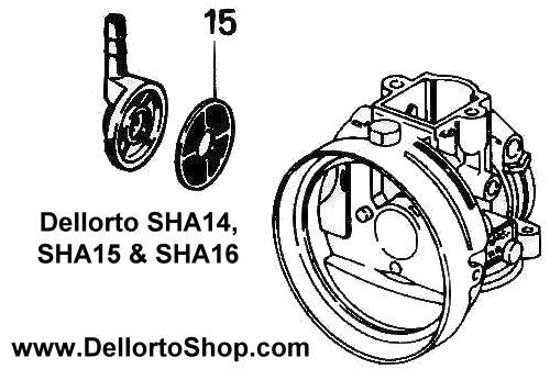 (15) Banjo Fuel Filter for Dellorto SHA14 SHA15 and SHA16