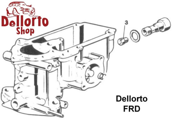 (3) Main Jet for Dellorto FRD carburetors