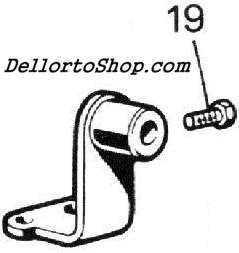 (19) Choke Cable Clamp Screw for Dellorto DHLA carburetors