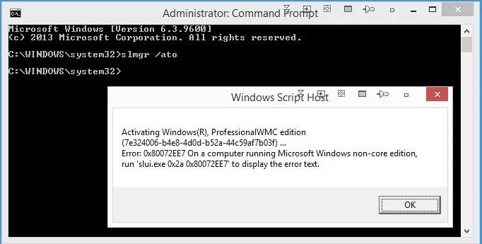 Activation Failure
