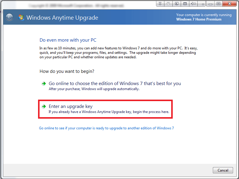 windows 7 home premium product key not working windows 10
