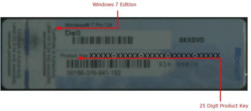 Windows 7 COA