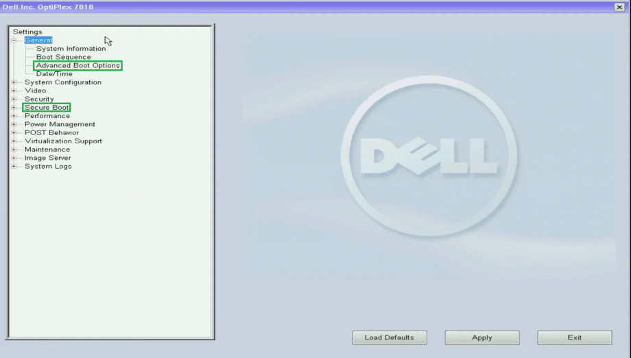 Dell Business UEFI BIOS