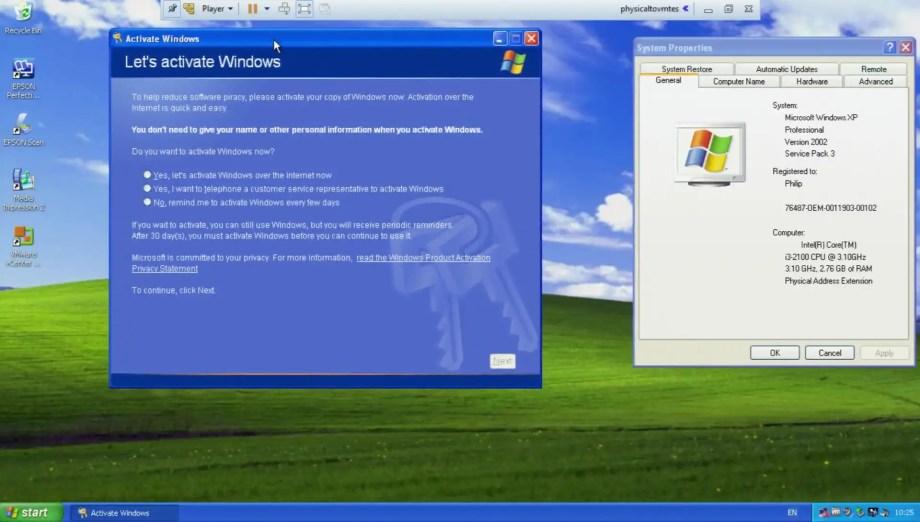 vmware converter activate windows xp oem