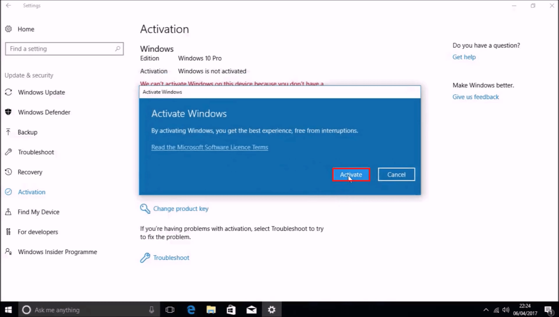windows 10 build 10586 product key
