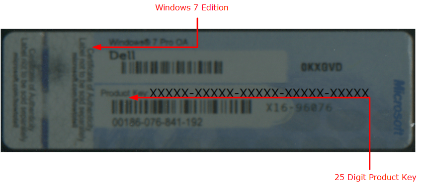 oem license key windows 7