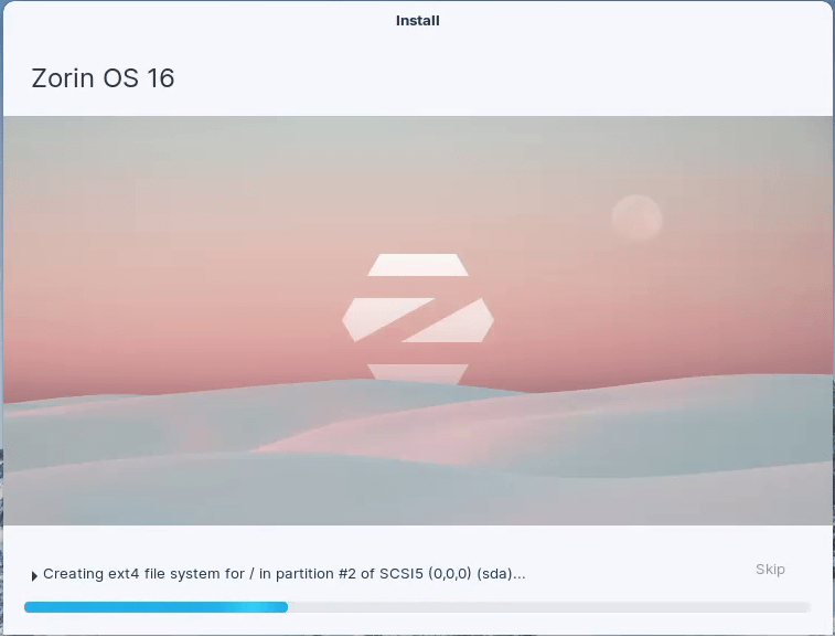 Zorin OS 16 have a cup of tea.