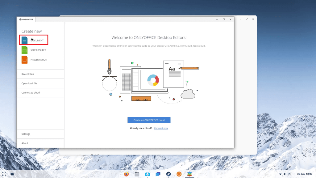 Zorin OS OnlyOffice Suite.