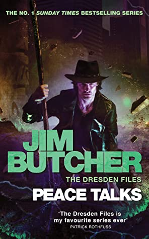 Peace Talks by Jim Butcher. The Dresden Files 16 book cover.