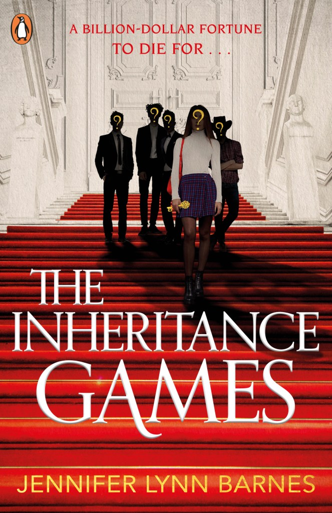 The Inheritance Games Book Cover. Ultimate Blog Tour Image.