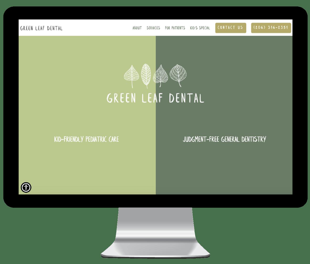 Green Leaf Dental branding