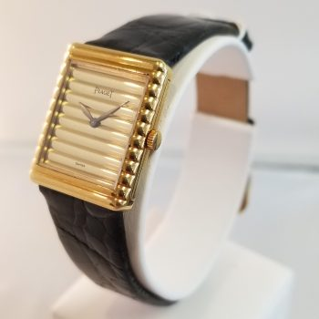 Piaget Rectangular Ladies 18k Gold Dial
