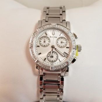 Bulova Ladies Diamond Studded Chronograph