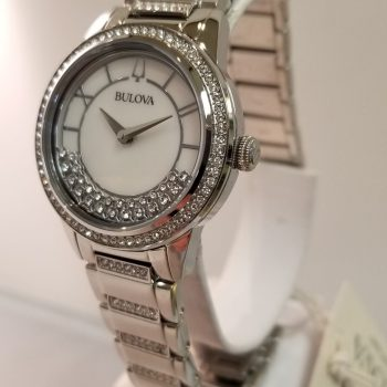 Bulova Silver Crystal Turnstyle