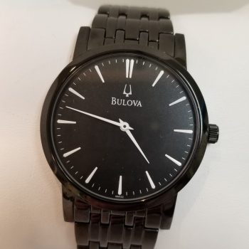 Bulova Black IP Watch