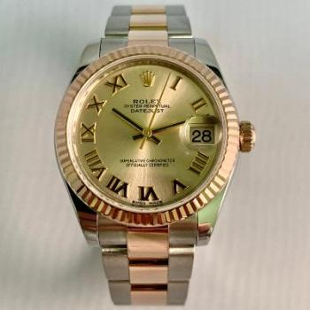 Rolex Ladies Datejust Two Tone Steel and Yellow Gold