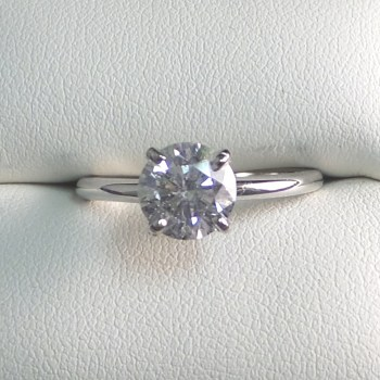 14k White Gold 1.51 Carat Diamond Solitaire