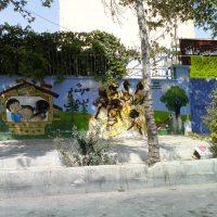 نقاشی های دیوار مهدکودک ها هم بی نصیب نماندند.