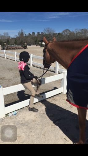 cute pony kid watching main hunter