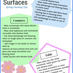 Kitchen Island Table With Chairs Fixtures Norwex Spring Cleaning Tips - Clean Natural ...