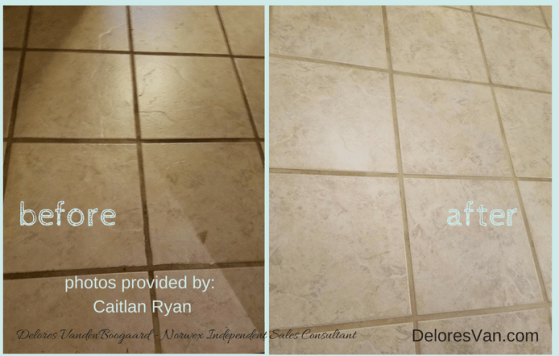 Grout Cleaned with Norwex UPP